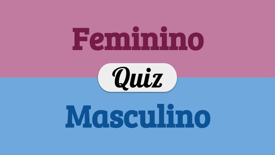 masculino x feminino